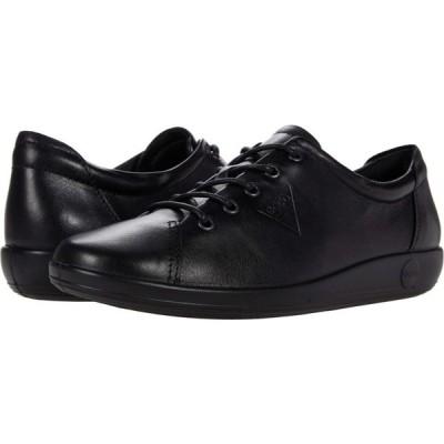 エコー ECCO レディース スニーカー シューズ・靴 Soft 2.0 Tie Sneaker Black/Black Sole Cow Leather