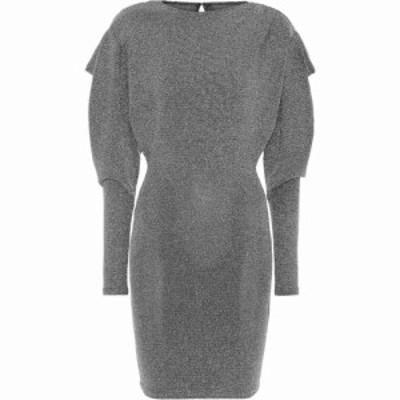 イザベル マラン Isabel Marant レディース ワンピース ワンピース・ドレス Waden Metallic Knit Minidress Black Silver