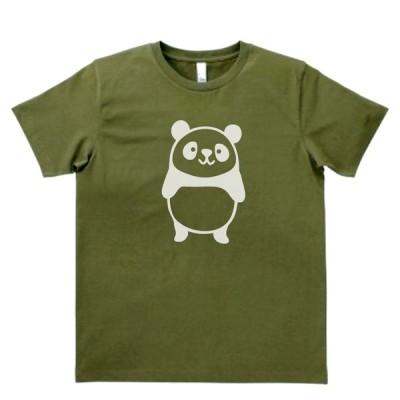 動物・生き物 Tシャツ 動物 生き物 かわいいパンダ カーキー MLサイズ