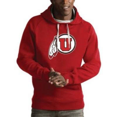 Antigua アンティグア スポーツ用品  Antigua Utah Utes Red Victory Pullover Hoodie