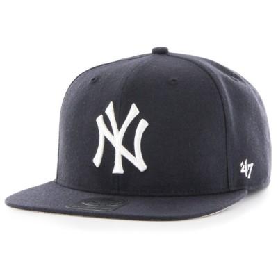 ベースボールキャップ ストリート スナップバック ヤンキース '47 / Yankees Sure Shot '47 CAPTAIN Navy