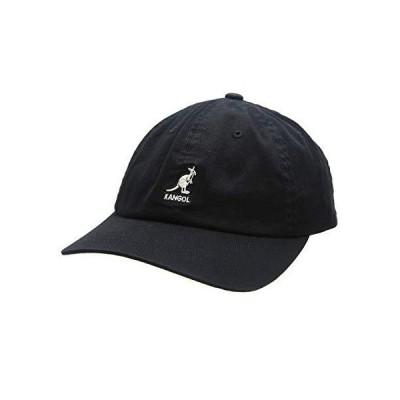 [カンゴール] Washed Baseball ウォッシュド ベースボール キャップ ブラック フリーサイズ(ワンサイズ) :[NOA]