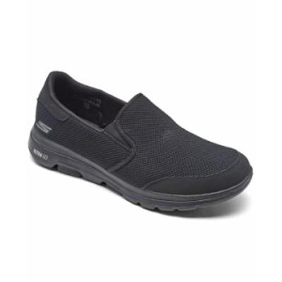スケッチャーズ メンズ スニーカー シューズ Men's GOwalk 5 - Beeline Slip-On Walking Sneakers from Finish Line Black