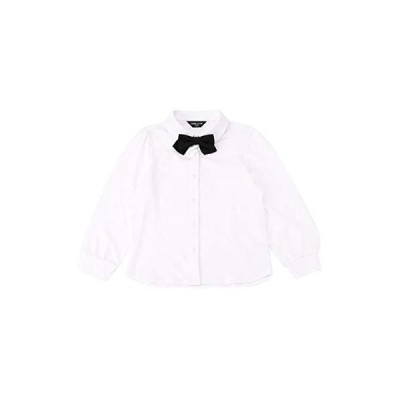 (コムサ イズム) COMME CA ISM リボンタイ付き 長袖ブラウス(100-130サイズ) 98-17CT13-200 130cm ホワイト