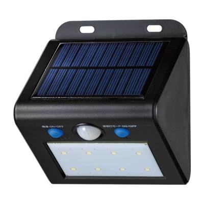 エルパ [ELPA] 朝日電器 屋外用LEDセンサーウォールライト ソーラー式 白色 ESL-K101SL(W)