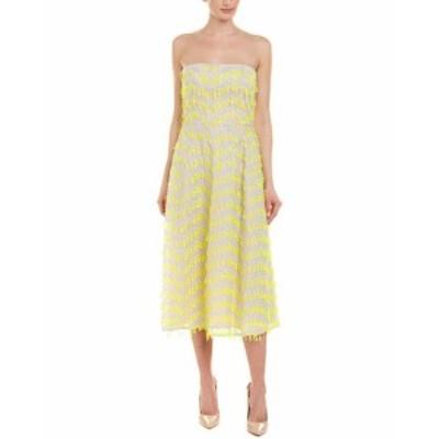 Carolina  ファッション ドレス Carolina Herrera Silk-Blend A-Line Dress 10 Green