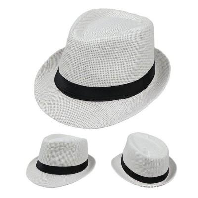 麦わら帽子 メンズ  送料無料 春夏秋冬 大きいサイズ対応 紳士 パナマ帽 風で飛ばない UVカット帽子 100% かっこいい