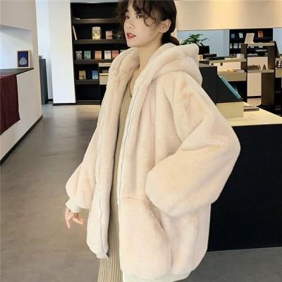 ファーコート レディース フリースジャケット あったか 保温 ジップアップ もこもこ コート アウター秋冬 防寒コート ゆったり 暖かい 韓国風 秋冬 送料無料