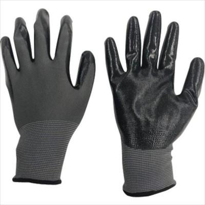 ミタニ ニトリル背抜き手袋パワーブラック(ヘッダー仕上)L (220109)
