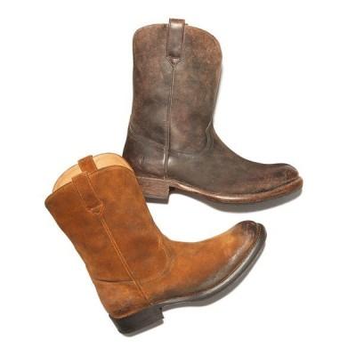 フライ ブーツ&レインブーツ シューズ メンズ Men's Duke Roper Boots Dark Brown