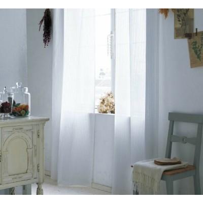 LINAS リトアニア製リネン(麻)100%シアーカーテン SC3230 巾100×丈81〜100cm(2枚入) SS縫製仕様 約2倍3つ山ヒダ