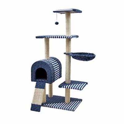 JIANXIN スクラッチポスト、猫の木、猫スクラッチポスト、大型の多層ネコク(新古未使用品)