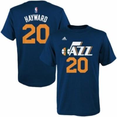 Outerstuff アウタースタッフ スポーツ用品  adidas Gordon Hayward Utah Jazz Youth Navy Game Time Flat Name & Number