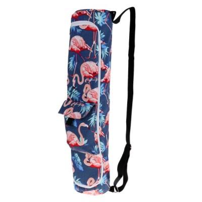 拡張可能収納ポケットスポーツフラミンゴB付きスポーツヨガマットキャリアバッグ