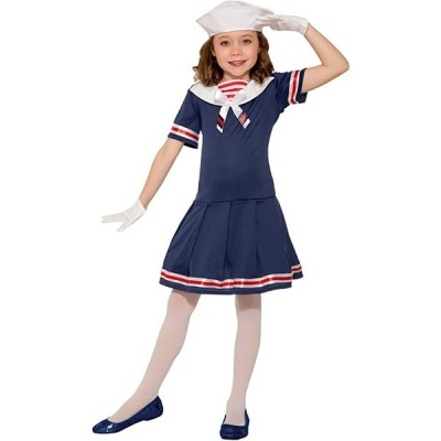 フォーラム ノベルティ チャイルド Sailor ガール コスチューム, As Shown, スモール(海外取寄せ品)