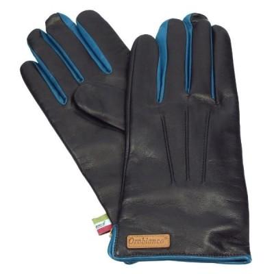 オロビアンコ 手袋 Orobianco ORM-1530 BLACK/BLUE 8サイズ