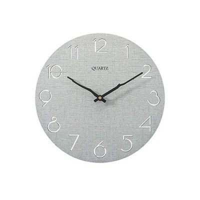 YVX Arabic Numerals Wall Clock,Silent Non-Ticking Clock-Indoor Decorative Wooden Round for Home Decoration Wall Decor,Gray_並行輸入品