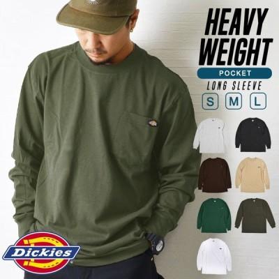 Tシャツ 長袖 DICKIES ディッキーズ ロンT ロングスリーブ ブランド メンズ レディース ポケット 胸ポケットロゴ wl450 大きいサイズ