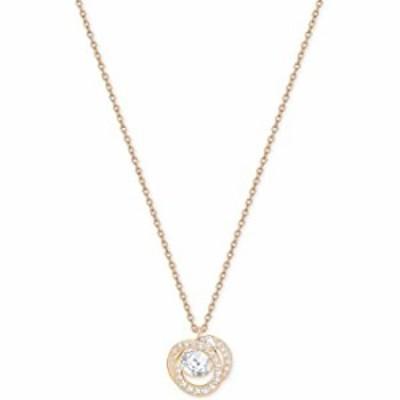 SWAROVSKI Crystal Generation White Rose Gold-Tone Pendant