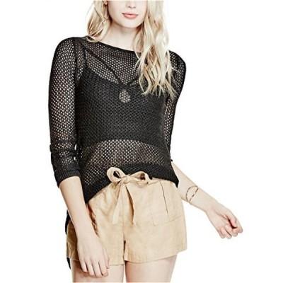 ゲス レディース セーター(プルオーバー型) Guess Women's Long Sleeve Gia Asymmetrical Hem Sweater