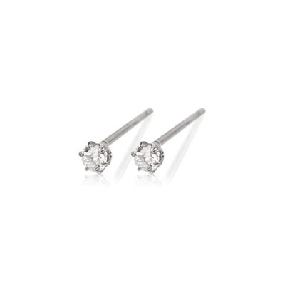 PT900 0.2ctダイヤモンド×プラチナピアス受注生産meluxe95-8076