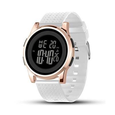 YUINK Men's Ultra-Thin Stainless Steel Digital Sports Watch, Multifunctional Chronograph Minimalist Waterproof - Fashion Wrist Watch for Men