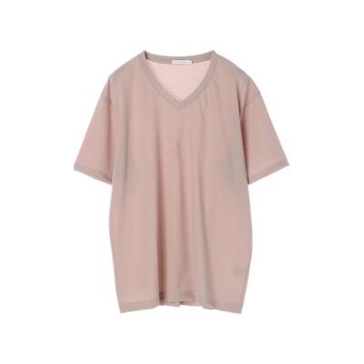 (koe/コエ)梨地天竺VネックTシャツ/レディース ライトベージュ