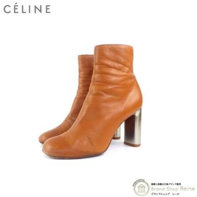 セリーヌ(CELINE) バンバン メタルヒール レザー ショート ブーツ ♯36.5 フィービーファイロ 中古