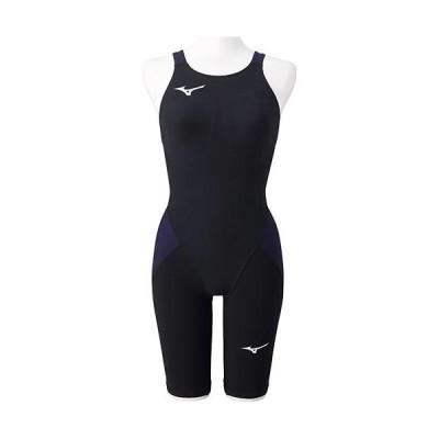 ミズノ(MIZUNO) レディース 競泳水着 MX・SONIC α ハーフスーツ ブラック×ネイビー N2MG0211 99 FINA承認 女性用競泳水着 競技用 スイムウェア