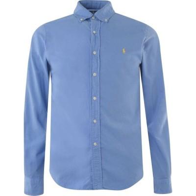 ラルフ ローレン Polo Ralph Lauren メンズ シャツ スリム ワイシャツ トップス Slim Fit Garment Dyed Oxford Shirt Harbour Blue