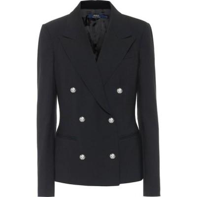ラルフ ローレン Polo Ralph Lauren レディース スーツ・ジャケット アウター Stretch-wool double-breasted blazer Black