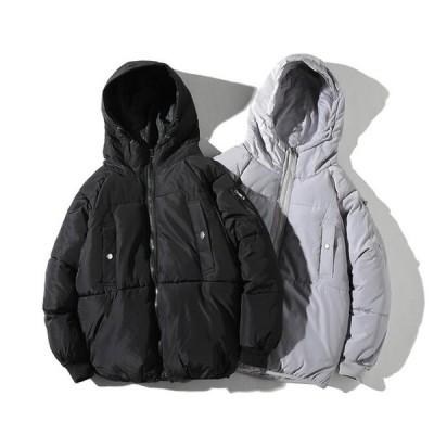 ダウンコート メンズコート ショートコート フード付き 防寒 お出かけ 旅行 おしゃれ 人気 アウター 中綿コート お兄系 大きいサイズ ダウンジャケット メンズ