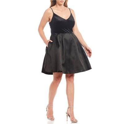 ビーダーリン レディース ワンピース トップス Plus Velvet Bodice Fit & Flare Dress