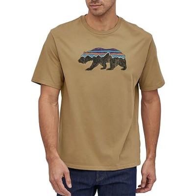 パタゴニア Patagonia メンズ Tシャツ トップス Fitz Roy Bear Organic Cotton T-Shirt Classic Tan