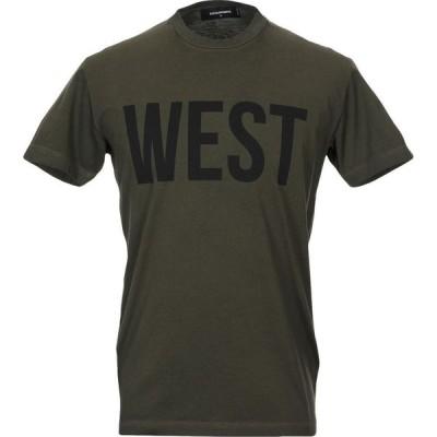 ディースクエアード DSQUARED2 メンズ Tシャツ トップス T-Shirt Military green