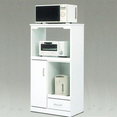レンジボード レンジ台 日本製 幅60cm 白 キッチンボード