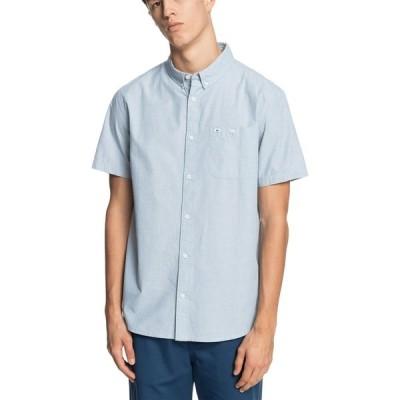 クイックシルバー シャツ トップス メンズ Quiksilver Men's Winfall Short Sleeve T-Shirt CaptainsBlue
