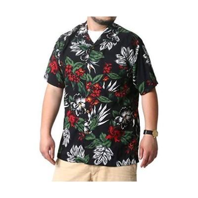 [ルーシャット] アロハシャツ メンズ おおきいサイズ カジュアルシャツ カジュアル 半袖 シャツ ゆったり おしゃれ 総柄 レーヨン 柄A