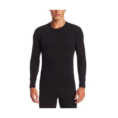 ColdPruf Men's Performance Single Layer Long Sleeve Crew Neck Top, Black, S