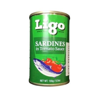 Ligo/イワシのトマト煮155g アジアン食品 魚 料理 缶詰 フィリピン イワシ