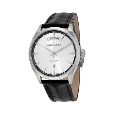 ハミルトン Jazzmaster シルバー ダイヤル ブラック レザー メンズ 腕時計 H42565751