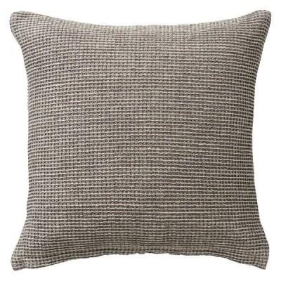 無印良品 麻綿ミニワッフル座ぶとんカバー/チャコール 55×59cm用 良品計画