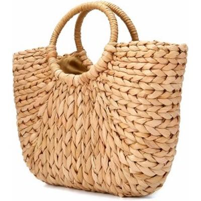 KA-00841かごバッグ ストローバッグ 草編みバッグ 手編み 手提げ 麦わら 夏バッグ おしゃれ 軽量 半円形 プレゼント 浴衣向け 海水浴 旅
