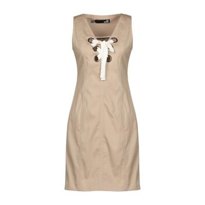 ラブ モスキーノ LOVE MOSCHINO ミニワンピース&ドレス ベージュ 46 コットン 98% / ポリウレタン 2% ミニワンピース&ドレス