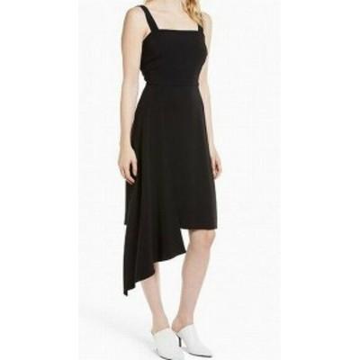 ファッション ドレス Lewit NEW Black Womens Size 12 Asymmetric Square Neck Sheath Dress