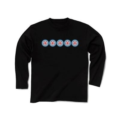 5つの1筒 横一列ロゴ 長袖Tシャツ Pure Color Print(ブラック)