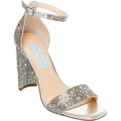 ベッツィ ジョンソン Betsey Johnson レディース サンダル・ミュール シューズ・靴 rina embellished sandals シルバー