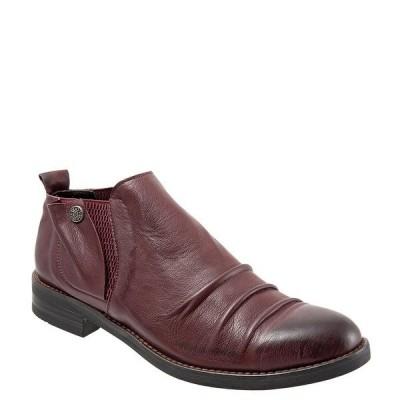 ブエノ レディース サンダル シューズ Pina Leather Ruched Slip-On Block Heel Loafers Merlot