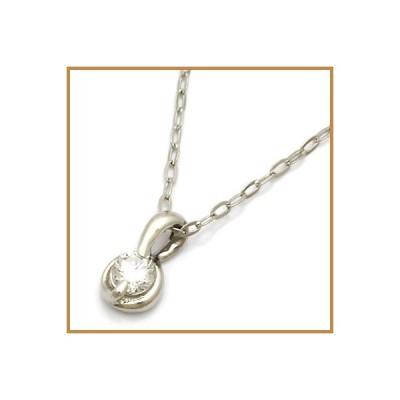 ネックレス レディース プラチナ PT900/PT850 ダイヤモンド D0.10 かわいい おしゃれ 中古 necklace 価格見直し
