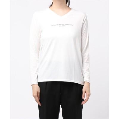 tシャツ Tシャツ VネックロゴプリントT